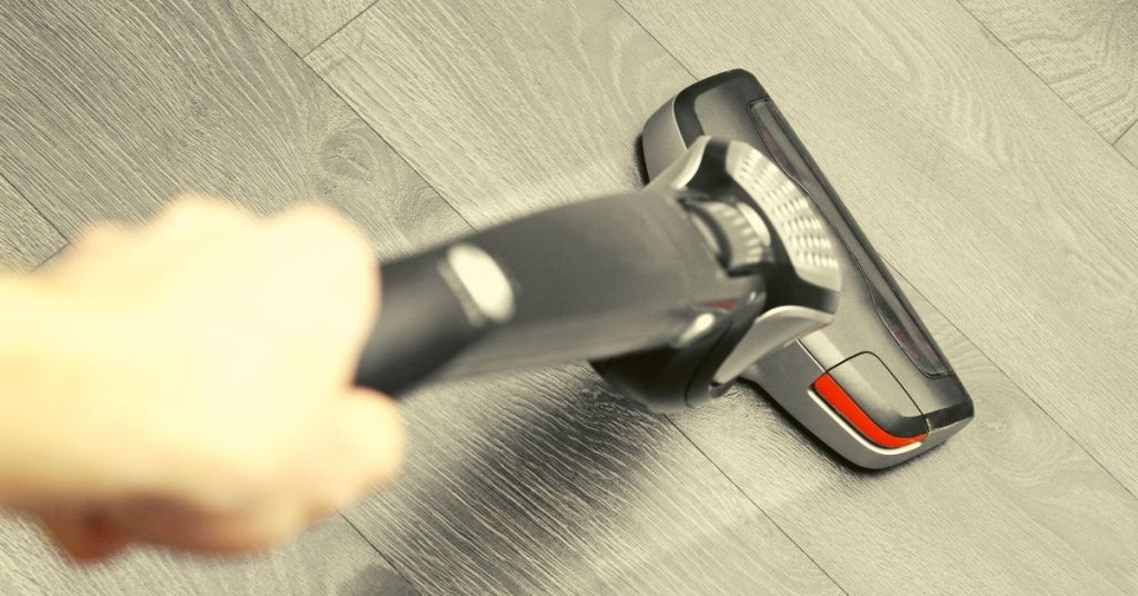 Cordless Hoover on Grey Floor - Should I hoover or dust first