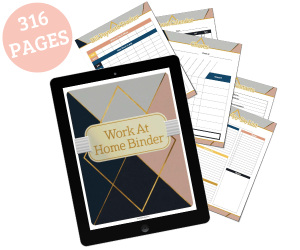 Working from Home and Life Planner - Clean and Tidy Living