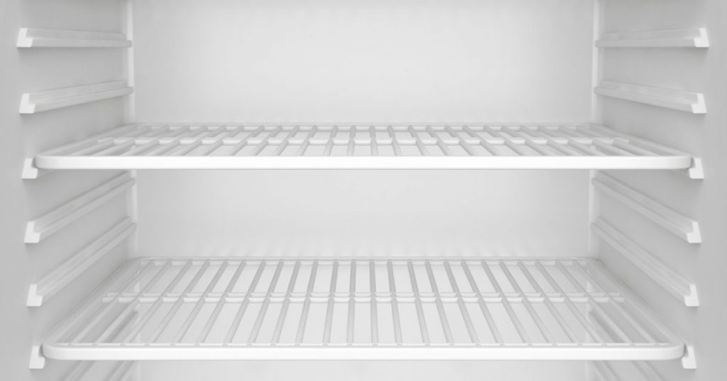 Empty shelves - best fridge freezer under £500 - Clean and Tidy living