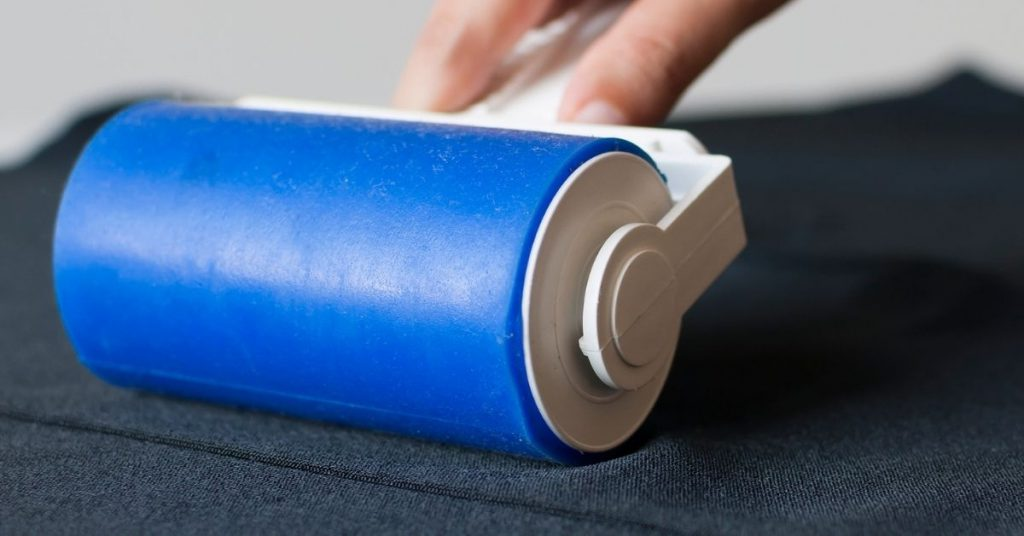 Lint Roller on Fabric - Why do Clothes Bobble - Clean and Tidy Living