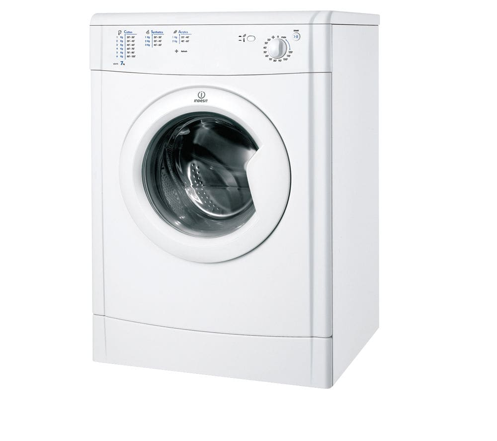 INDESIT Ecotime IDV75 Vented Tumble Dryer - White - Best Tumble Dryers for Small Flats - Clean and Tidy Living
