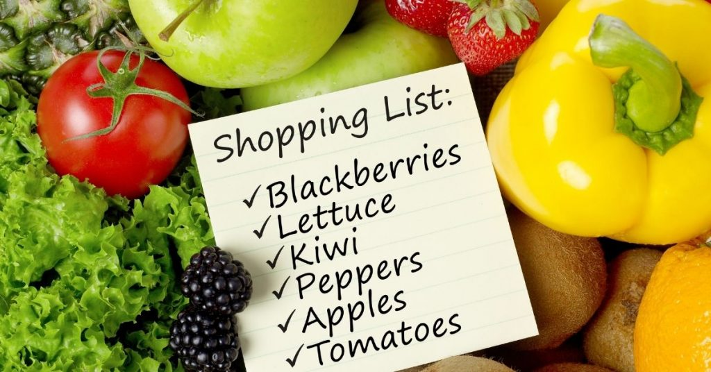 Writing a Shopping List to Save Time - Time Saver Tips - Clean and Tidy Living