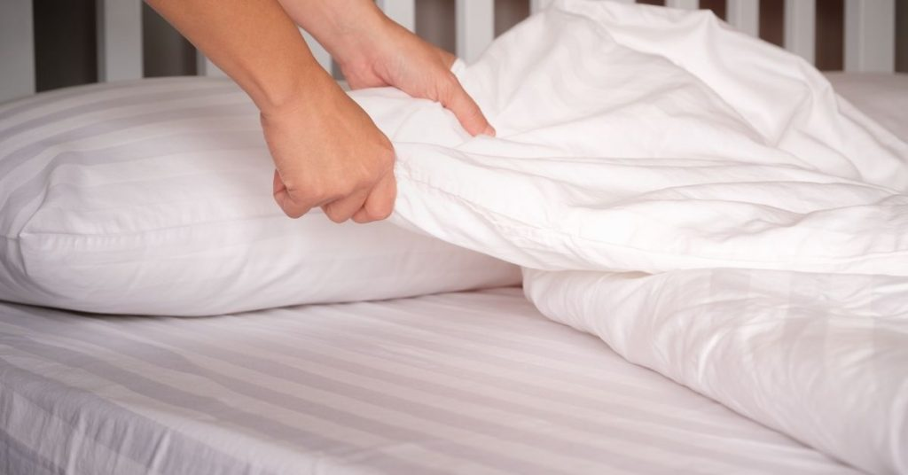 Changing bed sheets - Clean and Tidy Living