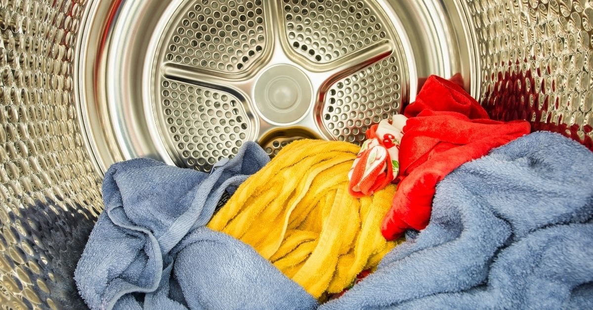 Dryer on cotton dry setting - Clean and Tidy Living